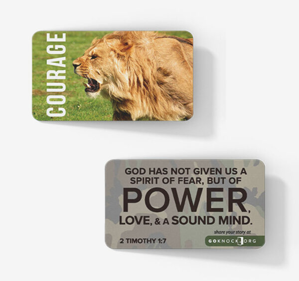 """""""Front and back of courage card"""""""