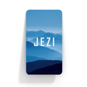 """Front of Jezi Card"""