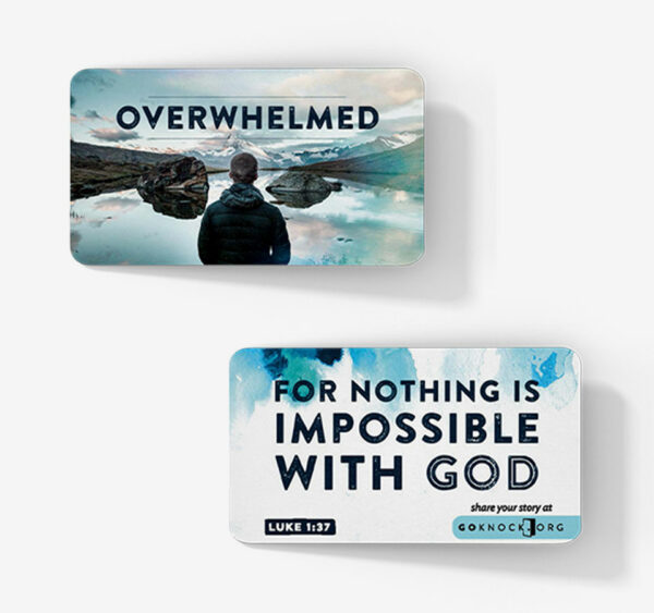 """""""Front and back of Overwhelmed card"""""""