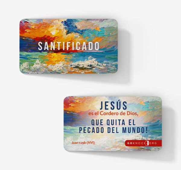 """""""Front and back of Santificado card"""""""