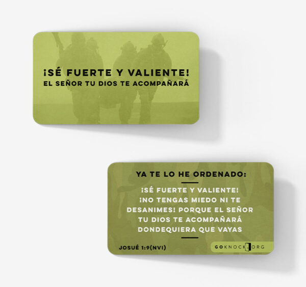"""""""Front and back of Se Fuerte card"""""""