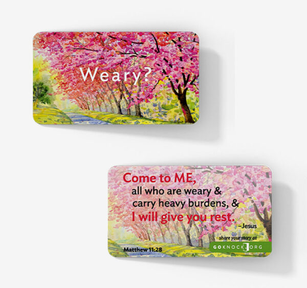 """""""Front and back of weary card"""""""